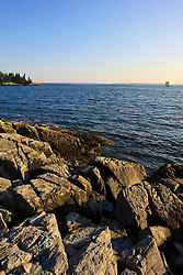 The coastal scenery of Whistler Cove on Maine's Great Cranberry Island. Near Mount Desert Island and Acadia National Park.