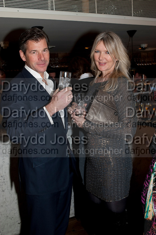 HUGH MORRISON; AMANDA WAKELEY, InStyle's Best Of British Talent Party in association with Lancome. Shoreditch HouseLondon. 25 January 2011, -DO NOT ARCHIVE-© Copyright Photograph by Dafydd Jones. 248 Clapham Rd. London SW9 0PZ. Tel 0207 820 0771. www.dafjones.com.