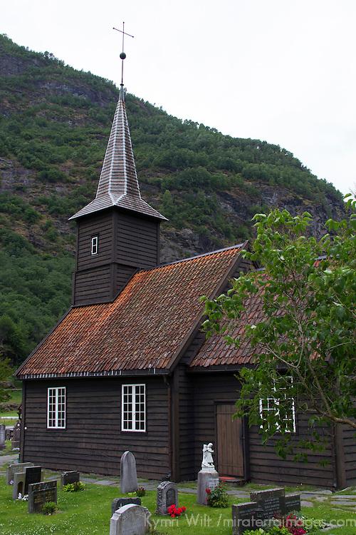 Europe, Norway, Flam. Flam Church.