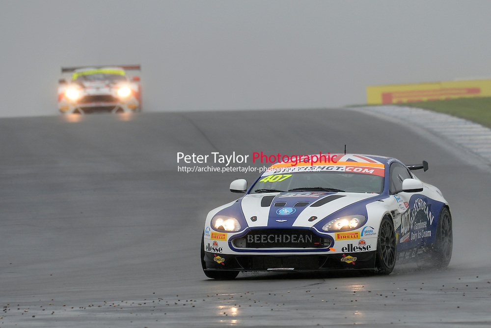 Ross Gunn (GBR) / Jack Bartholomew (GBR)  #407 Beechdean AMR  Aston Martin V8 Vantage GT4  Aston Martin 4.7L V8. British GT Championship at Donington Park, Melbourne, Leicestershire, United Kingdom. September 10 2016. World Copyright Peter Taylor/PSP.