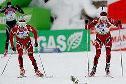10.12.2011, Biathlonzentrum, Hochfilzen, AUT, E.ON IBU Weltcup, 2. Biathlon, Hochfilzen, Verfolgung Herren, im Bild Sprint auf der Zielgeraden zwischen Boe Tarjei (NOR) spaeterer zweiter und Svendsen Emil Hegle (NOR) dem Sieger // during E.ON IBU World Cup 2th Biathlon, Hochfilzen, Austria on 2011/12/10. EXPA Pictures © 2011. EXPA Pictures © 2011, PhotoCredit: EXPA/ nph/ Straubmeier..***** ATTENTION - OUT OF GER, CRO *****