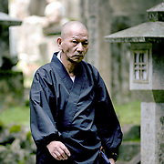 Monk in Okunoin, Koyasan, Japan (June 2004)