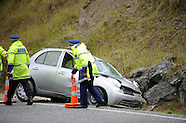 Cromwell-Crash, A single car collision in the Kawarau Gorge on State Highway 6, 1 January 2014