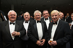 CARDIFF, WALES - Wednesday, November 11, 2009: Wales' council members L-R Idwal Williams, Mike Casey, Brian Fear, David Allen, xxxx during the Football Association of Wales Player of the Year Awards hosted by Brains SA at the Cardiff City Stadium. (Pic by David Rawcliffe/Propaganda)