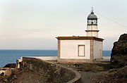 Mediterranean sea coast lighthouse at Cadaques Spain