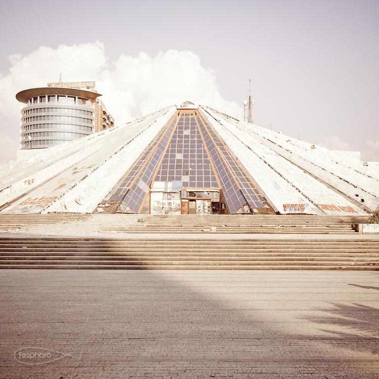 "Tirana - ""Piramida"" ex - International Culture Center.: Waiting for demolition."