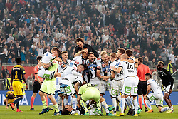 09.05.2018, Woerthersee Stadion, Klagenfurt, AUT, OeFB Uniqa Cup, SK Puntigamer Sturm Graz vs FC Red Bull Salzburg, Finale, im Bild SK Sturm Graz feiert den 1:0 erfolg über Red Bull Salzburg // during the final match of the ÖFB Uniqa Cup between SK Puntigamer Sturm Graz and FC Red Bull Salzburg at the Woerthersee Stadion in Klagenfurt, Austria on 2018/05/09. EXPA Pictures © 2018, PhotoCredit: EXPA/ Johann Groder