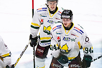 2019-12-11 | Umeå, Sweden:' The final score to 1-4 by Östersund (94) Sammy Andersson in HockeyEttan during the game  between Teg and Östersund at A3 Arena ( Photo by: Michael Lundström | Swe Press Photo )<br /> <br /> Keywords: Umeå, Hockey, HockeyEttan, A3 Arena, Teg, Östersund, mlto191211
