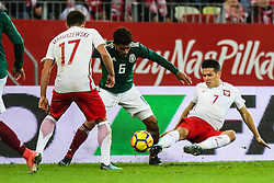 November 13, 2017 - Gdansk, Poland - Mariusz Stepinski (POL), Maciej Makuszewski (POL), Jonathan dos Santos (MEX) during the International Friendly match between Poland and Mexico at Energa Stadium in Gdansk, Poland on November 13, 2017. (Credit Image: © Foto Olimpik/NurPhoto via ZUMA Press)