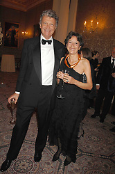 WILLIAM & OLGA SHAWCROSS at the Ark 2007 charity gala at Marlborough House, Pall Mall, London SW1 on 11th May 2007.<br />