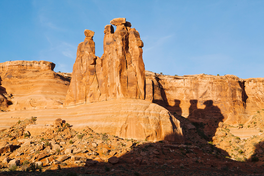 The Three Gossips rock formation in Arches National Park, Utah, USA.