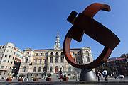 A sculpture outside the Ayuntamiento de Bilbao (town hall)