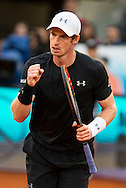 Andy Murray during the final of the Madrid Open at Manzanares Park Tennis Centre, Madrid<br /> Picture by EXPA Pictures/Focus Images Ltd 07814482222<br /> 08/05/2016<br /> ***UK &amp; IRELAND ONLY***<br /> EXPA-ESP-160509-0107.jpg