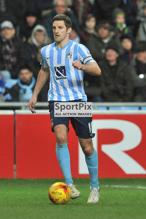 Sam Ricketts Coventry City, Coventry City v Burton Albion, Ricoh Arena,  Sky Bet League 1, Saturday 16th JJanuary 2016, (Mike Capps/Sportpix)