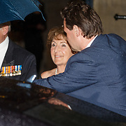 NLD/Amsterdam/201804245 - 20180424 koninklijke familie bij Corps Diplomatique diner 2018, vertrek Margriet in gala