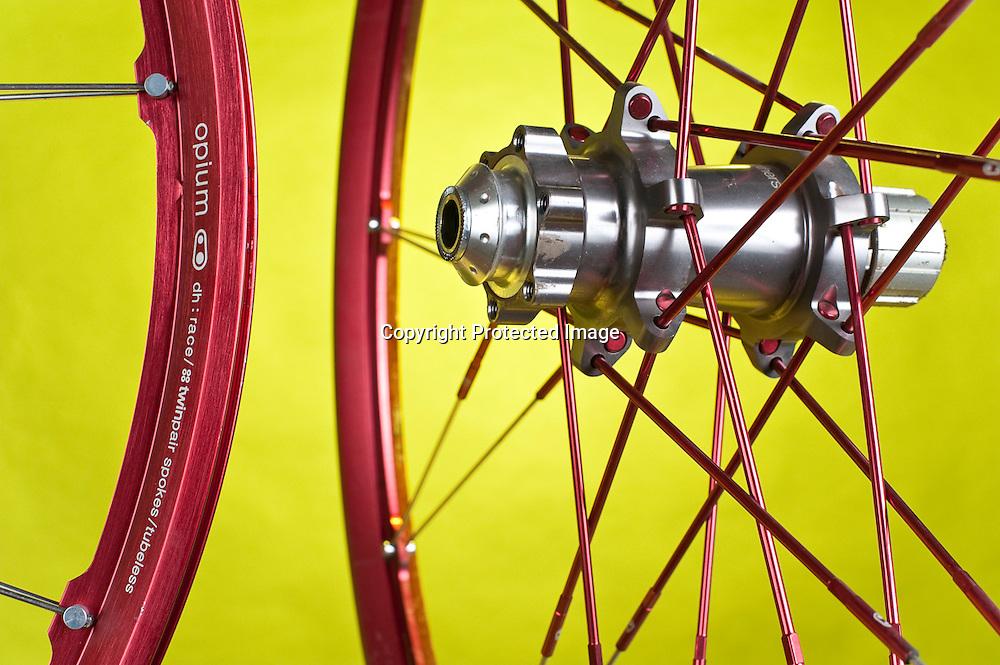 Studio photo of Crank Brothers Opium freeride mountain bike wheels