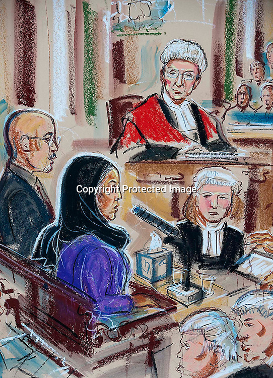 Shafilea Ahmed's Mother changes her testimony in front of a packed court, father in foreground to right