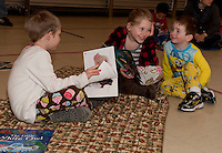 Holy Trinity School's book fair with pajamas, storytime, milk and cookies  March 15, 2011.