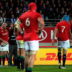Lions captain Ken Owens prepares to throw in to a lineout during the 2017 DHL Lions Series rugby union match between the Blues and British & Irish Lions at Eden Park in Auckland, New Zealand on Wednesday, 7 June 2017. Photo: Dave Lintott / lintottphoto.co.nz