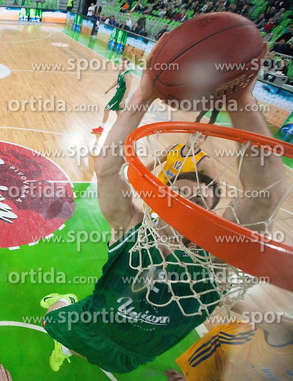 Aron John Baynes of Union Olimpija during basketball match between KK Union Olimpija and Khimki Moscow Region (RUS) in 9th Round of Regular season of Euroleague 2012/13 on December 7, 2012 in Arena Stozice, Ljubljana, Slovenia. (Photo By Vid Ponikvar / Sportida)