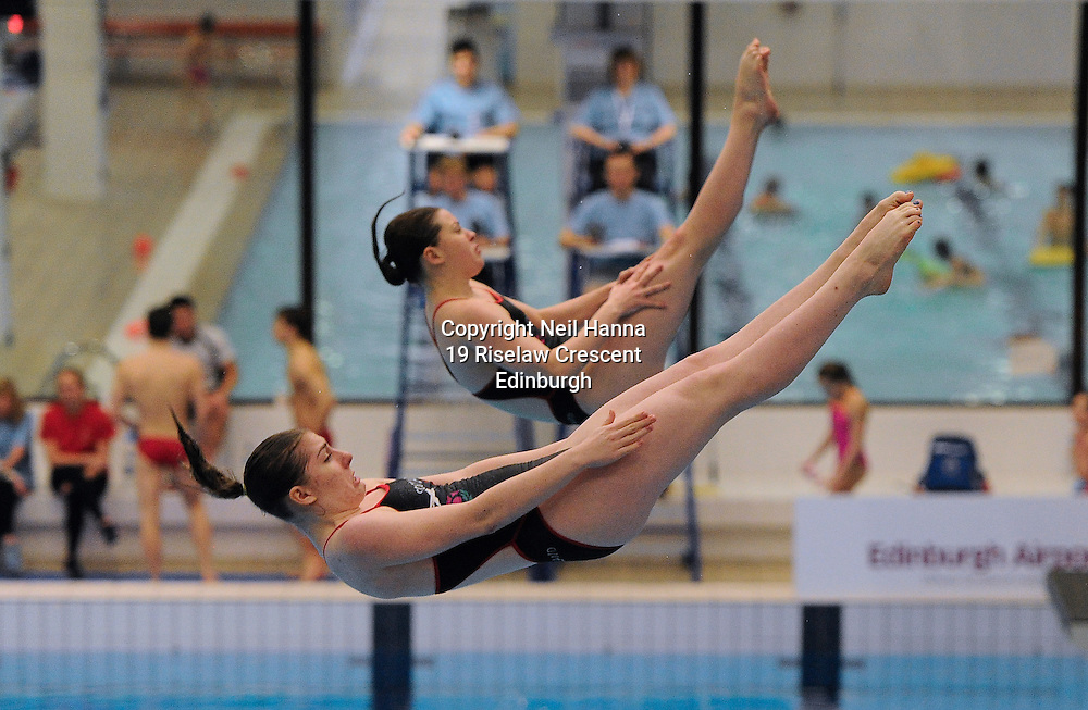 Scottish National Diving Championships &amp; Thistle Trophy 2015<br /> <br /> Royal Commonwealth Pool, Edinburgh<br /> Men's Women's  3m Synchronised Final<br /> <br />  Neil Hanna Photography<br /> www.neilhannaphotography.co.uk<br /> 07702 246823
