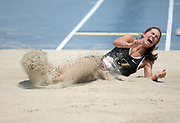 Jun 23, 2019; Miramar, FL, USA; Claire Bryant wins the women's long  jump at 20-1 (6.10m) during the USATF U20 Championships at Ansin Sports Complex.