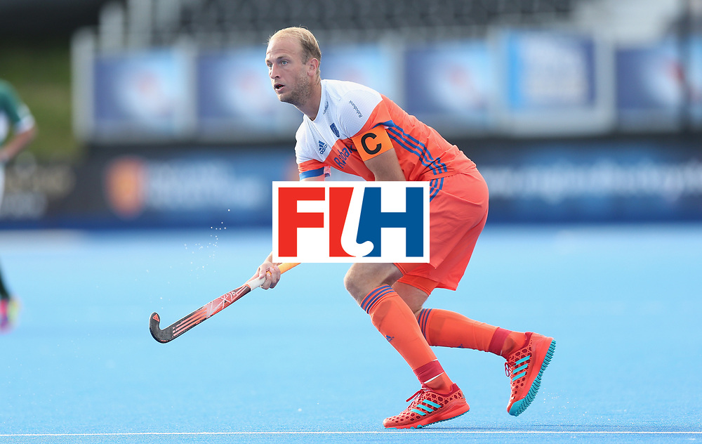 LONDON, ENGLAND - JUNE 15:  Billy Bakker of the Netherlands during the Hero Hockey World League Semi Final match between Netherlands and Pakistan at Lee Valley Hockey and Tennis Centre on June 15, 2017 in London, England.  (Photo by Alex Morton/Getty Images)