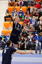 25-01-2013 VOLLEYBAL: EREDIVISIE FUSION - ZAANSTAD : ROTTERDAM<br /> Sander Schouten, Fusion<br /> ©2012-FotoHoogendoorn.nl / Pim Waslander