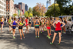 Tufts Health Plan 10K for Women, elite women warmup