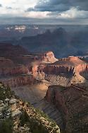 South Rim, Grand Canyon, National Park, AZ, storm, summer, cloud, curtain, virga
