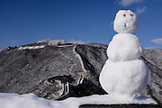 A snowman stands guard at the Great Wall at Mutianyu section of the Great Wall of China in Beijing, China Wednesday, Nov. 25, 2015. (AJ Mast)