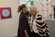 EVA O'NEILL,  DEBORAH MILNER, Frieze opening day. Regent's Park. London. 2 October 2019