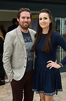 Damien Ruddy, Belmullet and Mairead Ni Chuig TG4 at the launch of The Galway Theatre Festival and the NUI Galway's O'Donoghue Centre for Drama, Theatre and Performance  . Photo:Andrew Downes, xposure