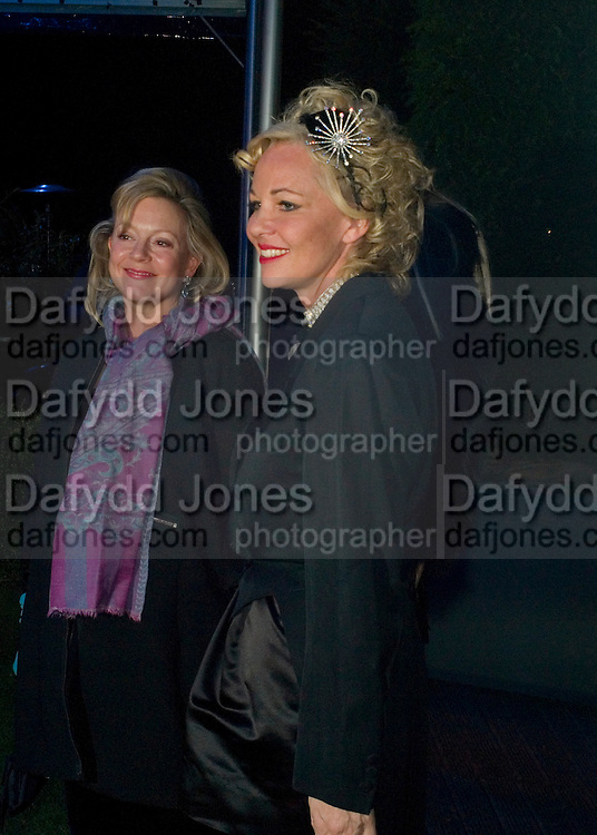 KAY SAATCHI AND AMANDA ELIASCH, Conservative Party Black & White Ball Battersea Evolution, London, SW11. Fundraising ball for the Conservative Party. 6 February 2008.  *** Local Caption *** -DO NOT ARCHIVE-© Copyright Photograph by Dafydd Jones. 248 Clapham Rd. London SW9 0PZ. Tel 0207 820 0771. www.dafjones.com.