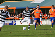 Forest Green Rovers Liam Noble (15) takes a shot at goal during the Vanarama National League match between Braintree Town and Forest Green Rovers at the Amlin Stadium, Braintree, United Kingdom on 24 September 2016. Photo by Shane Healey.