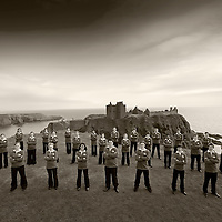 National Youth Choir of Scotland -  pictured in front of Dunnottar Castle, near Stonehaven..© Drew Farrell    Tel :  07721-735041.If you require any more information please contact Ruth Townsend @The National Youth Choir of Scotland Tel : 0141 287 2856 . Note to Editors:  This image is free to be used editorially in the promotion of The National Youth Choir of Scotland. Without prejudice ALL other licences without prior consent will be deemed a breach of copyright under the 1988. Copyright Design and Patents Act  and will be subject to payment or legal action, where appropriate.....