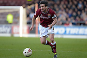 Northampton Town Defender David Buchanan on the ball during the Sky Bet League 2 match between Northampton Town and Newport County at Sixfields Stadium, Northampton, England on 25 March 2016. Photo by Dennis Goodwin.