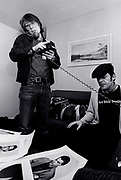 Ian Dury and Peter Jenner - backstage 1979