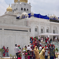 People at Gurudwara Bangla Sahib, Delhi's largest Sikh temple.