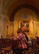 Nimes, Southern France, Catholic Church and Worshiper