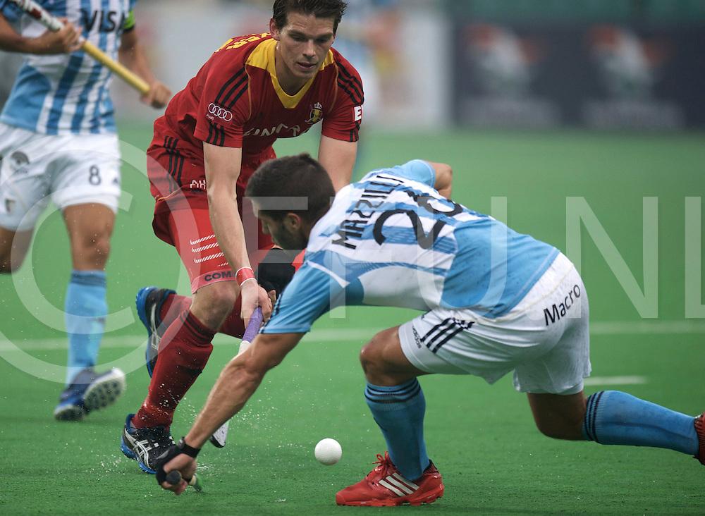 NEW DELHI - Hock World League  Final Men<br /> 17 BEL v ARG (5 / 8)<br /> foto: Felix de Naijer.<br /> FFU PRESS AGENCY COPYRIGHT FRANK UIJLENBROEK