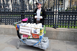 Anti Donald Trump protest outside House of Commons, London UK 29 April 2019