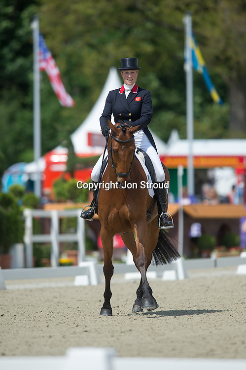 Zara Phillips (GBR) & High Kingdom perform in the dressage phase of the  Luhmuhlen CCI4* Event in Salzhausen, Germany - 14 June 2013