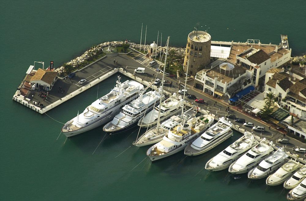 Aerial pictures of Puerto Banus, Marbella, Spain