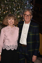Sir Paul & Lady Smith at reception to celebrate the launch of the Claridge's Christmas Tree 2017 at Claridge's Hotel, Brook Street, London England. 28 November 2017.<br /> Photo by Dominic O'Neill/SilverHub 0203 174 1069 sales@silverhubmedia.com