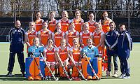 AMSTELVEEN - Teamfoto Nederlands Meisjes A hockeyteam. FOTO KOEN SUYK