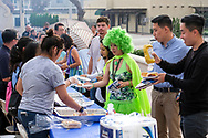 Participants line for free food during National Night Out in San Gabriel, California, on Tuesday, Aug. 1, 2017. National Night Out is a community-police awareness-raising event in the United States and Canada, held the first Tuesday of August. Texas and Florida have the option to use the alternate date of the first Tuesday in October to avoid hot weather.(Photo by Ringo Chiu)<br /> <br /> Usage Notes: This content is intended for editorial use only. For other uses, additional clearances may be required.
