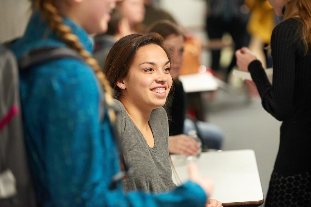 Activity; Socializing; Buildings; Graff Main Hall; Location; Inside; People; Student Students; Faculty; Type of Photography; Candid; Spring; March; UWL UW-L UW-La Crosse University of Wisconsin-La Crosse; Diversity