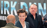 Harry Styles, Dunkirk - World film premiere, Leicester Square Gardens, London UK, 13 July 2017, Allied soldiers from Belgium, the British Empire, Canada, and France are surrounded by the German army and evacuated during a fierce battle in World War II.