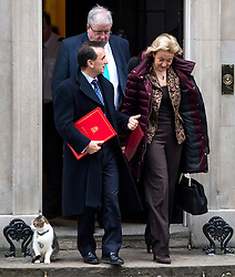 © Licensed to London News Pictures. 23/11/2016. London, UK. ALUN CAIRNS, PATRICK MCLOUGHLIN and ANDREA LEADSOM leave 10 Downing Street in London following a cabinet meeting before Chancellor Philip Hammond delivers his first Autumn statement to parliament. Photo credit: Ben Cawthra/LNP
